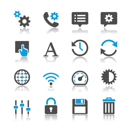 Setting icons - reflection theme