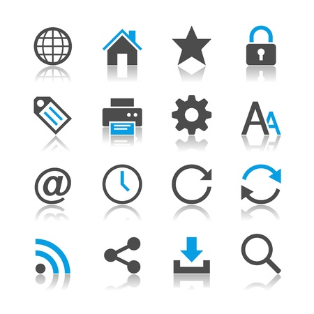 Web icons - reflection theme