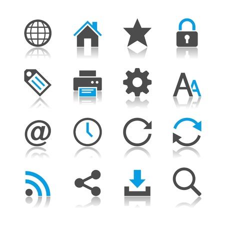 web icons: Web icons - reflection theme