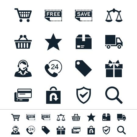E-commerce iconen Stock Illustratie