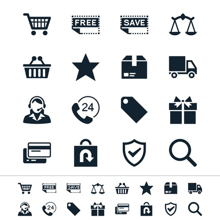 ecommerce icons: E-commerce icons