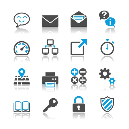 Application icons - reflection theme Stock Vector - 19750539