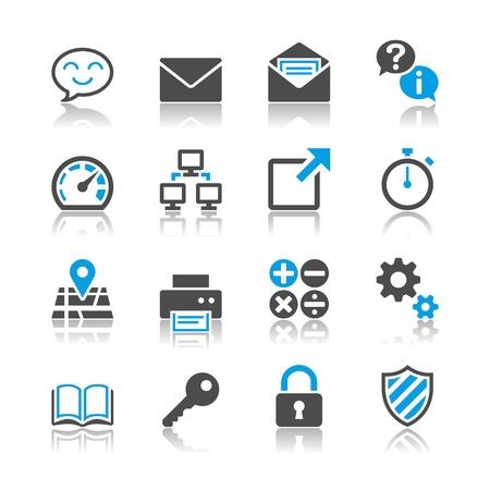 L'application des ic�nes - th�me de r�flexion Illustration
