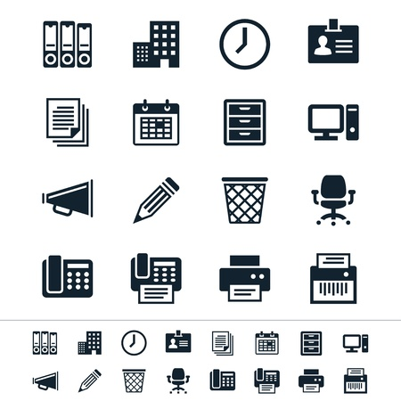 Business and office icons Stock Vector - 19750521