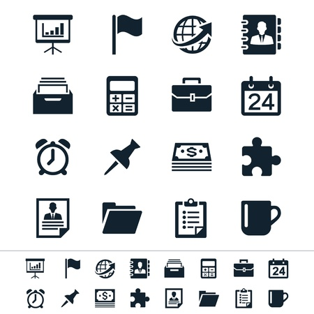 Business and office icons Stock fotó - 19750478