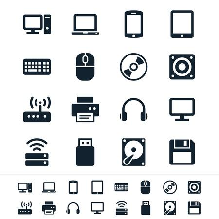 Computerpictogrammen Stock Illustratie
