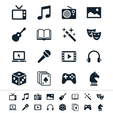 icônes de divertissement
