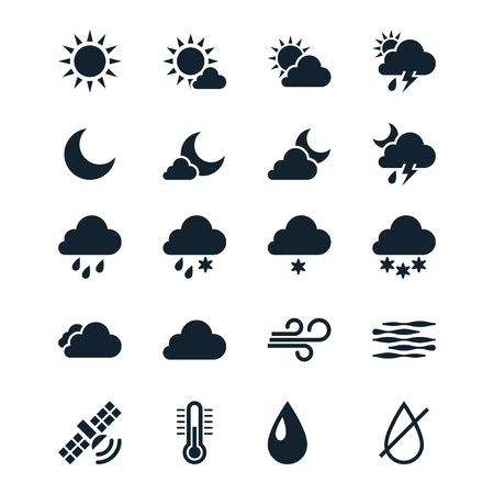partly sunny: Weather icons Illustration