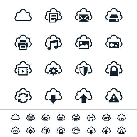 joypad: Iconos de Cloud Computing