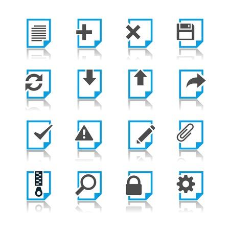 Document icons reflection theme