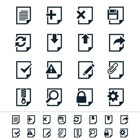 Document icons 일러스트