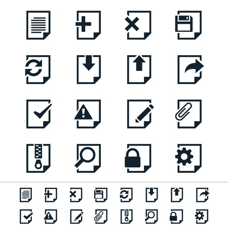 Document icons Stock Illustratie