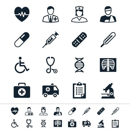 Gezondheidszorg iconen