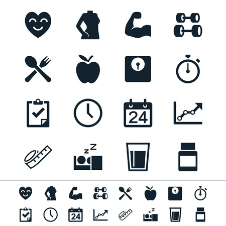 icons: Simple vector icons. Clear and sharp. Easy to resize. No transparency effect. EPS10 file.