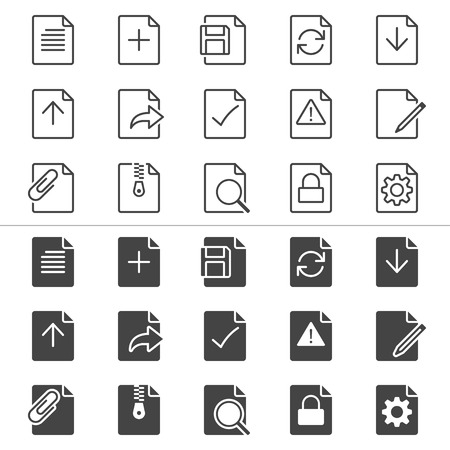 enable: Document thin icons, included normal and enable state