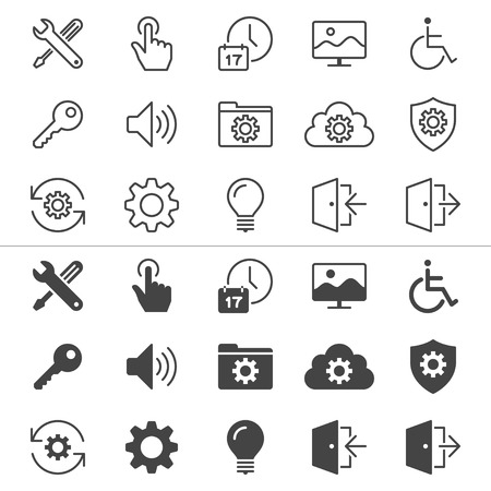 enable: Setting thin icons, included normal and enable state