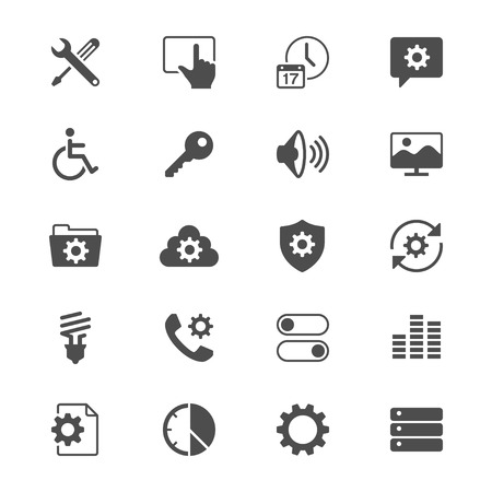touchpad: Setting flat icons