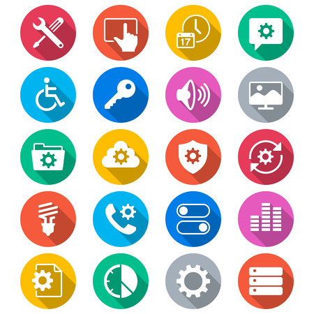 touchpad: Setting flat color icons