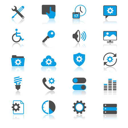 touchpad: Setting flat with reflection icons Illustration