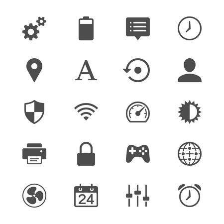 wireless icon: Setting flat icons