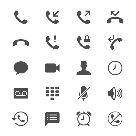 miss call: Telephone flat icons