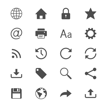 rss feed icon: Web flat icons Illustration