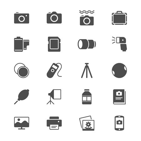 telephone box: Photography flat icons