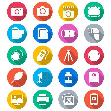 Los iconos de color Fotografía plana Foto de archivo - 27518411