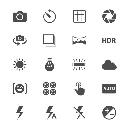 aperture grid: Photography flat icons