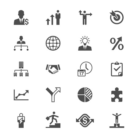 Business flat icons Illustration
