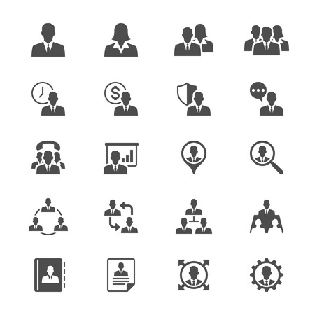 recruiting: Business flat icons Illustration