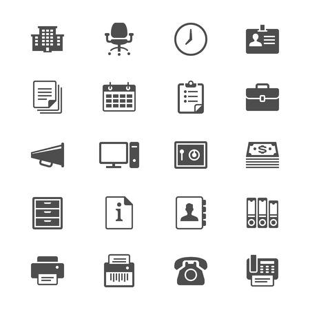 Bürobedarf Flach Symbole Standard-Bild - 28462068