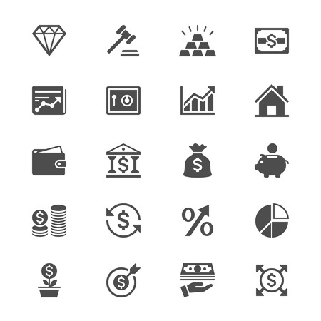 Business and investment flat icons
