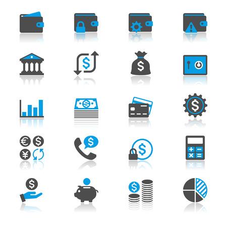 フラットの反射アイコン財務管理
