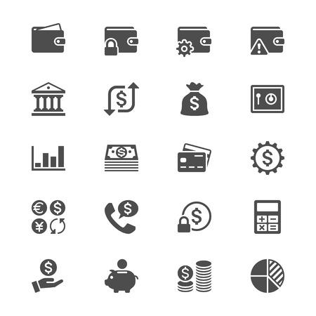 Financial management flat icons Illustration