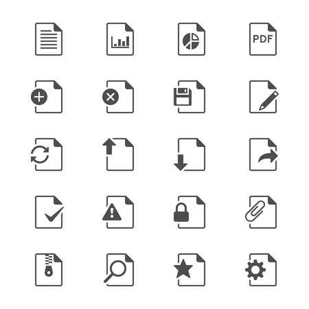 Document flat icons