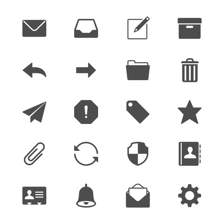 junk mail: Email flat icons