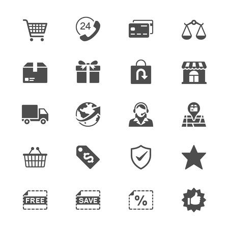E-commerce vlakke pictogrammen
