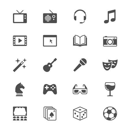 joypad: Entertainment flat icons