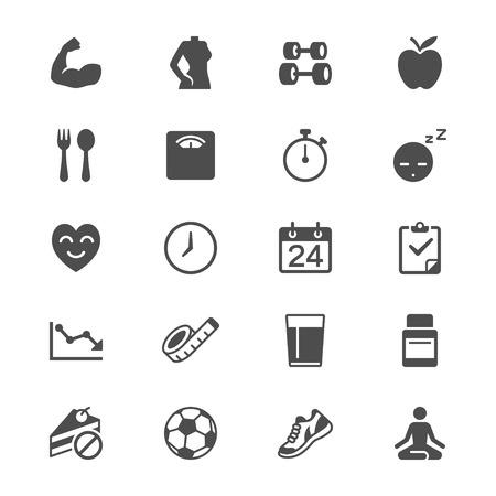 icono computadora: Iconos planos de la salud Vectores