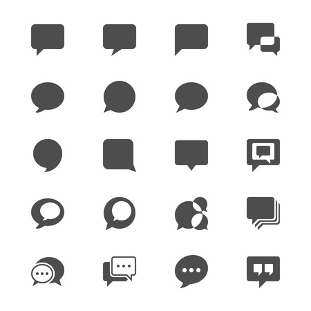 Speech bubble flat icons