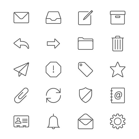 Email thin icons