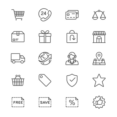 scale icon: E-commerce thin icons