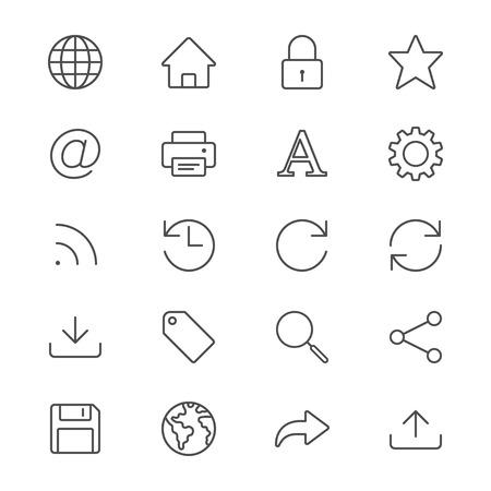 Web icons minces