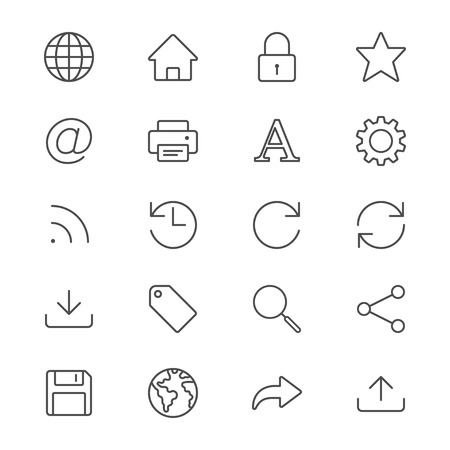 rss feed icon: Web thin icons