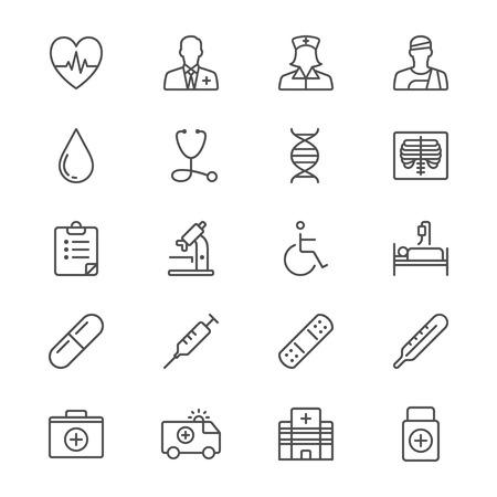 dan: Health care thin icons
