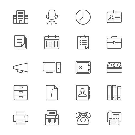 shredder machine: Office supplies thin icons
