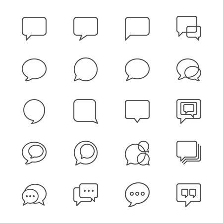 Speech bubble thin icons