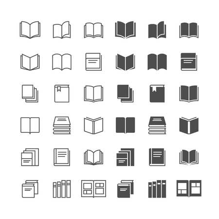 ereader: Book icons, included normal and enable state.