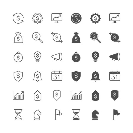 enable: Business icons, included normal and enable state.